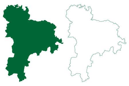 Tiruppur district (Tamil Nadu State, Republic of India) map vector illustration, scribble sketch Tiruppur map Ilustração