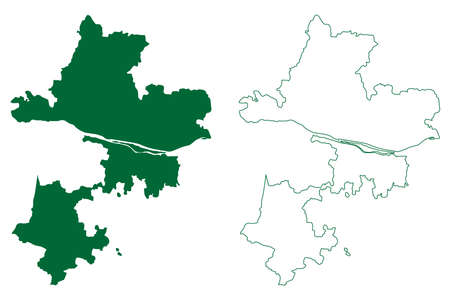 Tiruchirappalli district (Tamil Nadu State, Republic of India) map vector illustration, scribble sketch Tiruchirappalli map