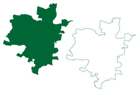 Hyderabad district (Telangana State, Republic of India) map vector illustration, scribble sketch Hyderabad map Ilustração