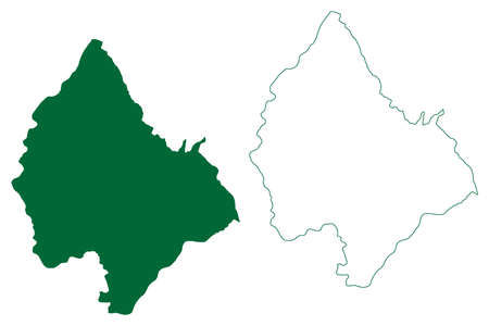 Haridwar district (Uttarakhand or Uttaranchal State, Republic of India) map vector illustration, scribble sketch Haridwar map 일러스트