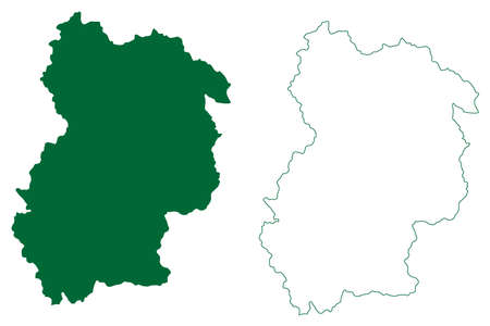Chamoli district (Uttarakhand or Uttaranchal State, Republic of India) map vector illustration, scribble sketch Chamoli map