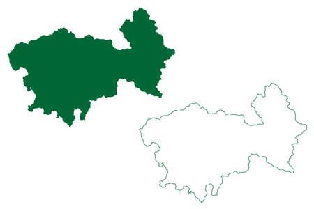 Uttarkashi district (Uttarakhand or Uttaranchal State, Republic of India) map vector illustration, scribble sketch Uttarkashi map 일러스트