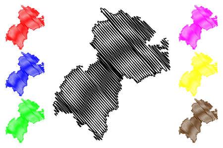 Heidekreis district (Federal Republic of Germany, rural district, State of Lower Saxony) map vector illustration, scribble sketch Heidekreis map 일러스트