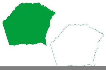 Agua Fria municipality (Bahia state, Municipalities of Brazil, Federative Republic of Brazil) map vector illustration, scribble sketch Agua Fria map