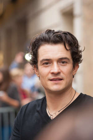NEW-YORK, USA - OCTOBER 9: Orlando Bloom prior to ROMEO AND JULIET performance at Richard Rogers Theater, October 9, 2013, New York, United States