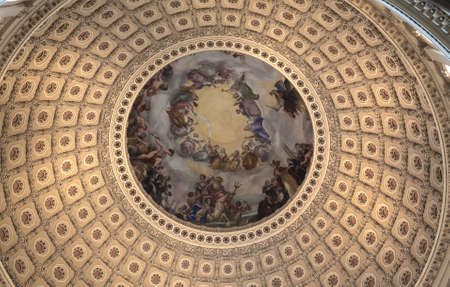 The US Capitol Rotunda Stock Photo