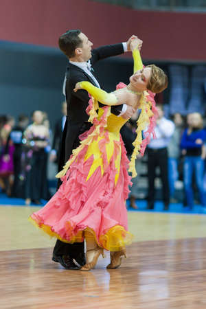 Minsk-Belarus, March, 16  Sergey Domorad – Svetlana Domorad perform Senior Standard European Program on National Minsk-2014 WDSF  Championship on March, 16, 2014, in Minsk, Republic of Belarus