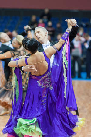 Minsk-Belarus, March, 16  Evgeniy Zhukov – Irina Zhukova perform Senior Standard European Program on National Minsk-2014 WDSF  Championship on March, 16, 2014, in Minsk, Republic of Belarus