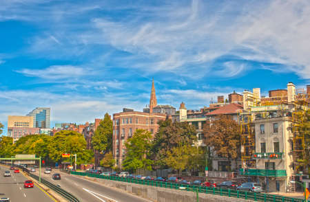 City of Boston, MA, United States of America  HDR Image  Horizontal Composition Editorial
