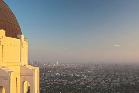 View of Los Angeles City from the Griffith Observatory in Los Angeles, California, united States of America