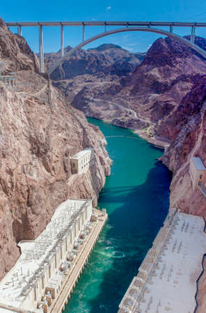pat: Dam Bypass Pat Tillman Memorial Bridge. Vertical Image Stock Photo