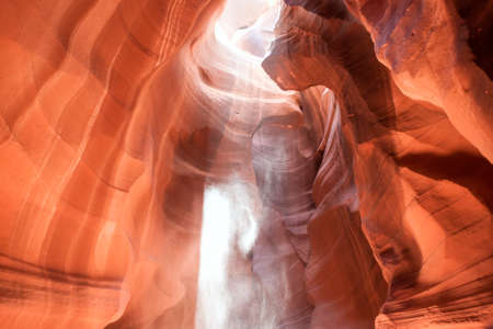 slot canyons: Antelope Canyon is Considered to be the Most-Photographed Sandstone Slot Canyons in Arizona. Orange Colors Feature in Many Wonderful Images All Over The World. Horizontal Image Composition