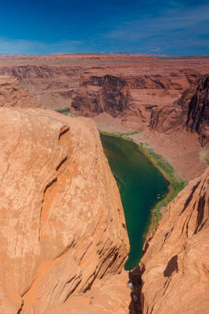 Partial View of Horseshoe Bend in Arizona State, United States of America. Vertical Image photo