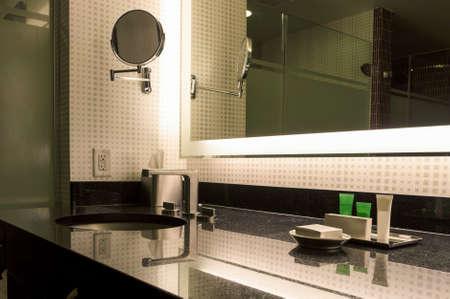 dwell house: Modern Bathroom Interior. Horizontal Image Composition Editorial