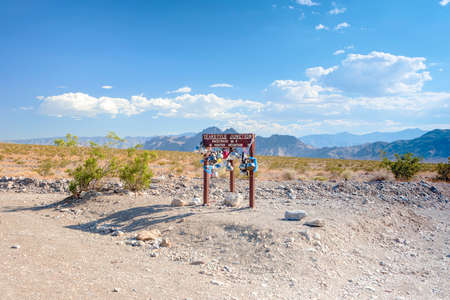 teakettle: Teakettle Junction in Death Valley in California, USA. Horizontal Image
