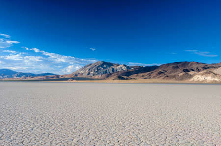 death valley: The Racetrack Playa Dry Lake in Death valley National Park in California.Horizontal Image