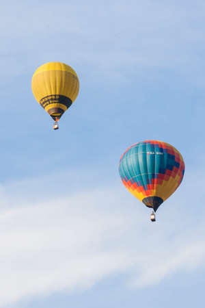 19 years: Minsk-Belarus, July 19, 2015: Air-Balloons Participating in International Aerostatics Cup Called 70 Years of Peaceful Sky Held in Minsk on July 19, 2015 in Minsk, Republic of Belarus