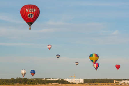 19 years: Minsk-Belarus, July 19, 2015: Lots of Air-Balloons Participating in International Aerostatics Cup Called 70 Years of Peaceful Sky Held in Minsk on July 19, 2015 in Minsk, Republic of Belarus Editorial