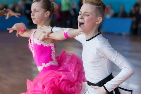 aleksander: Minsk, Belarus-April 3, 2016: Strelskiy Aleksander and Ratomskaya Anna Perform Juvenile-1 Latin-American Program on the IDSA Championship Kinezis Star Cup � 2016 in April 3, 2016 in Minsk, Republic of Belarus