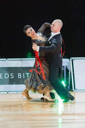 Riga, Latvia �December 17, 2016: Unidentified Professional Senior Dance couple Performs European Standard Program on the WDSF Baltic Grand Prix-2106 Championship in December 17, 2016 in Riga, Latvia.