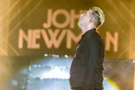 Minsk, Belarus-August 12, 2017: World Famous British Pop-Singer John Newman Performing at A-Fest Music Festival on August 12, 2017 in Minsk, Republic of Belarus.