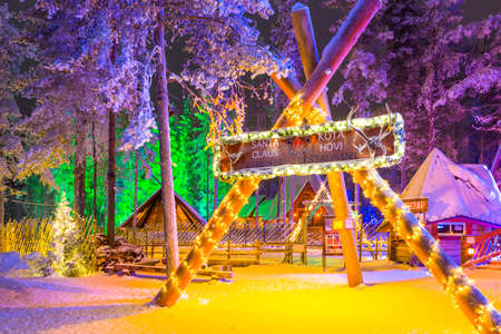 Rovaniemi, Finland -December 29, 2017: unique Igloo in Santa Claus Village in Rovaniemi in Lapland, on Arctic Circle at Christmas Time in Finland, at December 29, 2017 Editorial