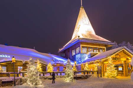 Rovaniemi- Finland, December 29, 2017:  Residential House of Santa Claus (Joulupukki) in Rovaniemi Village in Finland in December 29, 2017