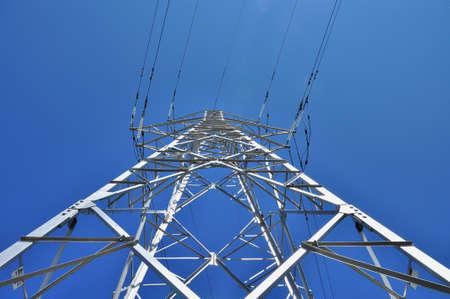 power pole: Power pole below view
