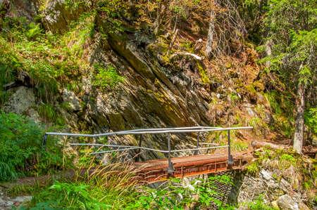 surmount: Pedestrian pass in Carpathians mountains Stock Photo