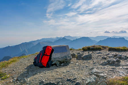 Transylvanian Alps,, also called Southern Carpathians, viewed from Vânatoarea lui Buteanu  the eighth highest peak of Romania.