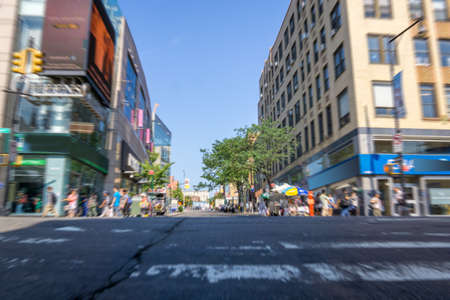down town: Flushing Down town Queens New york city