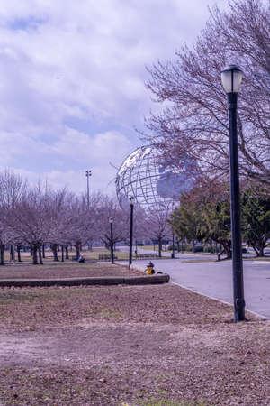 veiw: morning veiw of conona park globe sculpture