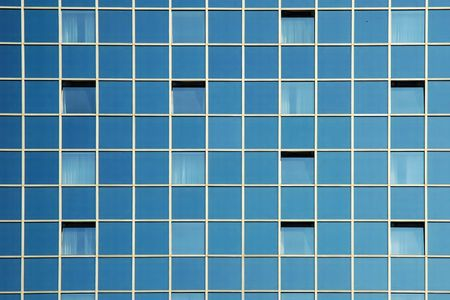 front facing: Modern office building - glass facade fragment Stock Photo