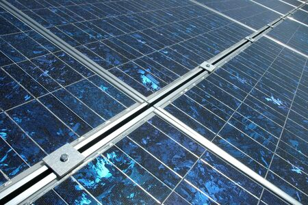 Photovoltaic cells in a solar panel  Stock Photo - 3322439