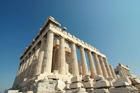 reconstructed: Parthenon - Acropolis (Athens, Greece) Stock Photo