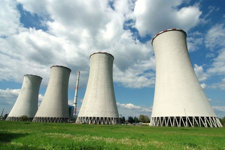 Power plant in Detmarovice (Czech Republic) Stock Photo