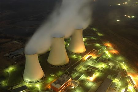 power plants: cooling towers of a power plant Editorial