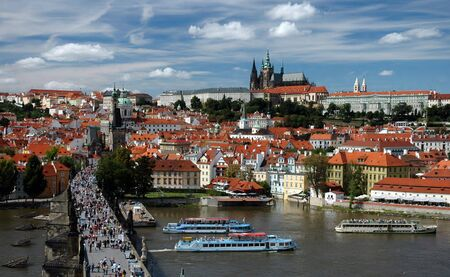 Prague castle and Charles bridge photo
