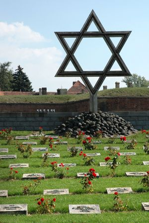 Memorial Terezin - Star of David (Czech Republic) Stock Photo