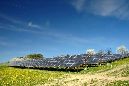Solar-Kraftwerk  Lizenzfreie Bilder