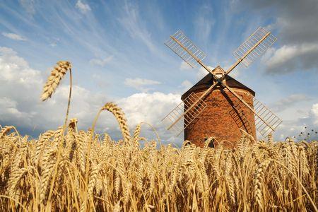 Windmill in Chvalkovice (Czech Republic) Stock Photo - 3348398