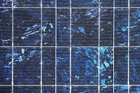 radiacion solar: Las c�lulas fotovoltaicas en un panel solar