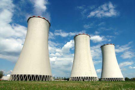evaporarse: Torres de enfriamiento en centrales el�ctricas Detmarovice (Rep�blica Checa)  Foto de archivo