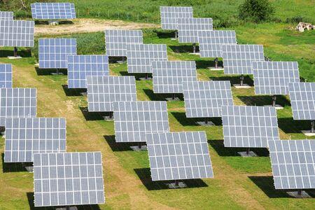 Solar-Kraftwerk - ein Luftbild