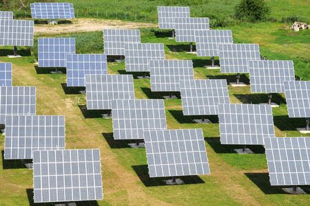 solar power plant: solar power plant - an aerial view