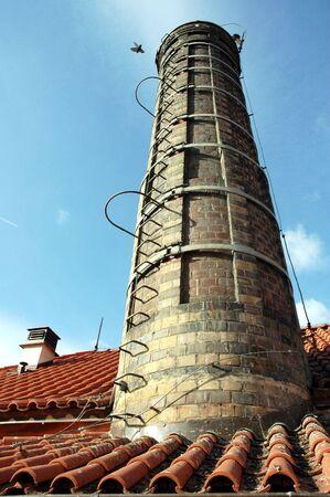 Old brick chimney photo