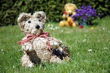 teddy bears in a cemetery in Aalborg (Denmark)