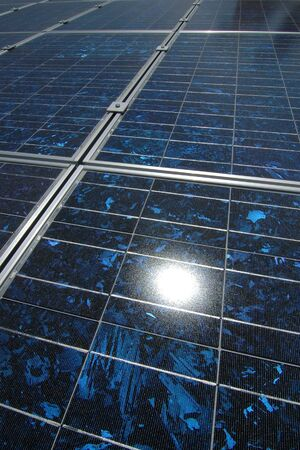 Photovoltaic cells in a solar panel Stock Photo - 3386750
