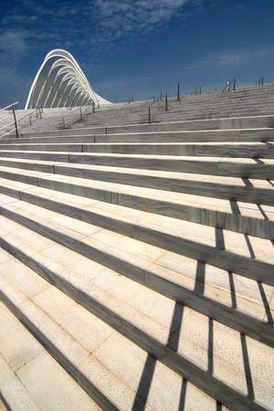 Olympischen Komplex in Athen - ein Teil mit einer Treppe Lizenzfreie Bilder