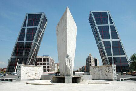 torres: Torres Kio in Madrid (Spain) - Plaza de Castilla Stock Photo
